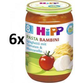 HiPP BIO Rajčata se špagetami a mozzarellou- PASTA BAMBINI - bezmasý - 6 x 220g
