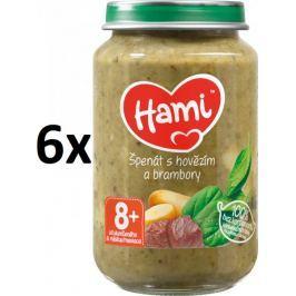 Hami Špenát s hovězím a brambory - 6 x 200g