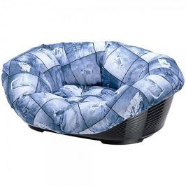 Ferplast pelech Sofa modrý se vzorem 2