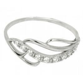 Brilio Prsten z bílého zlata s krystaly 229 001 00624 07 - 1,30 g (Obvod 52 mm) zlato bílé 585/1000