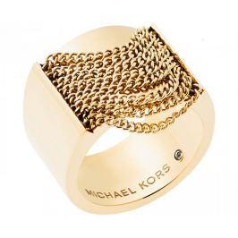 Michael Kors Masivní pozlacený prsten MKJ5795710 (Obvod 55 mm)