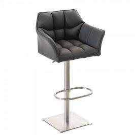 BHM Germany Barová židle s nerezovou podnoží Sofi, šedá