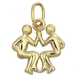 Brilio Zlatý přívěsek Blíženci 241 001 00812 - 0,40 g zlato žluté 585/1000