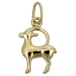 Brilio Zlatý přívěsek Kozoroh 241 001 00807 - 0,35 g zlato žluté 585/1000