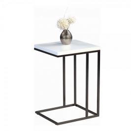 Artenat Odkládací stolek Ragnar, 43 cm, bílá/nerez