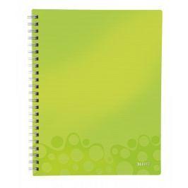 Blok organizační Leitz WOW A4  linkovaný metalicky zelený