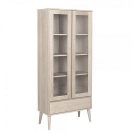 Design Scandinavia Prosklená skříň / vitrina Nagy, 178 cm
