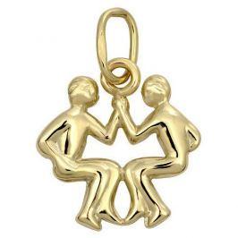 Brilio Zlatý přívěsek Blíženci 241 001 00812 - 0,35 g zlato žluté 585/1000
