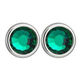 Preciosa Náušnice Carlyn s krystalem Emerald 7235 66