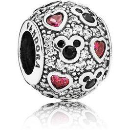 Pandora Stříbrný třpytivý korálek Disney Mickey Mouse 791457CZ stříbro 925/1000