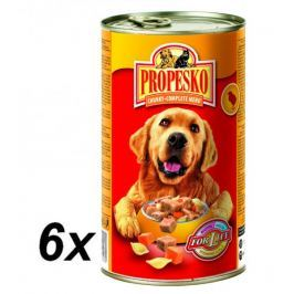 Propesko kousky pes kuře+těstoviny+mrkev 6x1240g