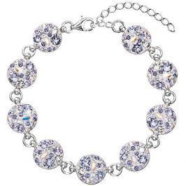 Evolution Group Luxusní náramek s krystaly Violet 33048.3 stříbro 925/1000