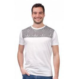 Brave Soul pánské tričko Tristan S bílá