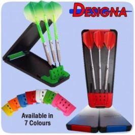 Designa Pouzdro na šipky Delta Solid Case - Black Pink