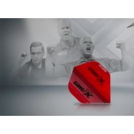 XQMax Darts Letky Transparent Red F2512