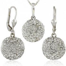 MHM Souprava šperků Kuličky M5 Crystal 34157 stříbro 925/1000