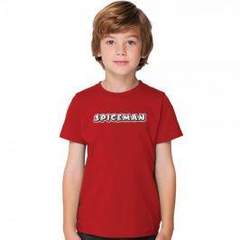 Mikbaits Dětské tričko Spiceman - červené