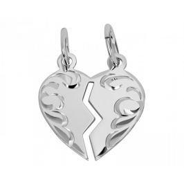 Brilio Silver Stříbrný přívěsek pro páry 441 001 01480 04 - 0,90 g stříbro 925/1000