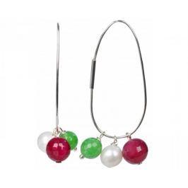 JwL Luxury Pearls Náušnice 4v1 - s výměnnými přívěsky JL0023 stříbro 925/1000