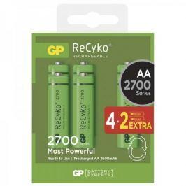 GP ReCyko+ 2700 series AA, nabíjecí, 2600 mAh, 4+2 ks