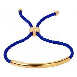 Troli Královsky modrý šňůrkový náramek s pozlacenou ocelovou ozdobou