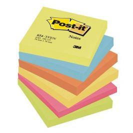 Blok samolepicí Post-it 76 x 76 /6 ks energické barvy