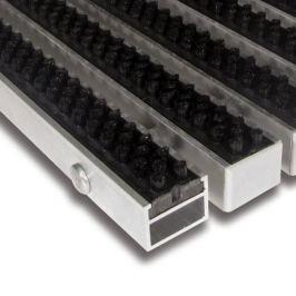 FLOMAT Černá hliníková čistící kartáčová venkovní vstupní rohož Alu Super - 100 x 100 x 2,7 cm