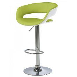 Design Scandinavia Barová židle Garry (SET 2 ks) bílá / zelená
