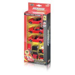 BBurago Ferrari Race & Play Triple Pack Playset (1:43)