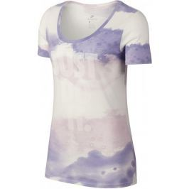 Nike W NSW Tee Scoop Jdi Wash Sail Purple Pulse Barely Grape White XS