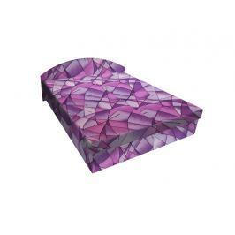 Čalouněná postel ÁJA 180x200 cm, fialová látka