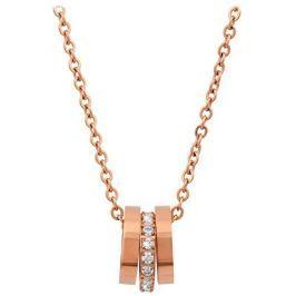 Troli Růžově pozlacený náhrdelník s něžným přívěskem