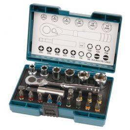 Makita B-54081 sada bitů a nástrčkových klíčů s ráčnou 21-dílná