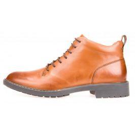 Geox Pánská kotníčková obuv Kapsian, hnědá, vel. 43 - II. jakost