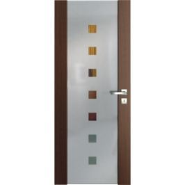 VASCO DOORS Interiérové dveře VENTURA SATINATO kombinované sklo - čtverce, Ořech, B
