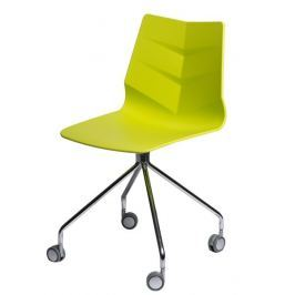 Mørtens Furniture Kolečková židle Limone, limetková