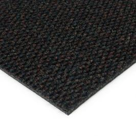 FLOMAT Černá kobercová zátěžová vnitřní čistící zóna Fiona - 200 x 200 x 1,1 cm