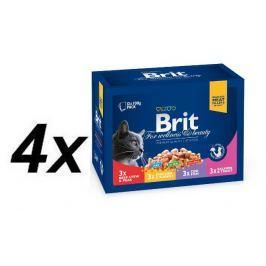 Brit Premium Cat Pouches Family Plate 4x( 12x100g)