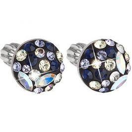 Evolution Group Slušivé náušnice s krystaly Indigo 31136.3 stříbro 925/1000