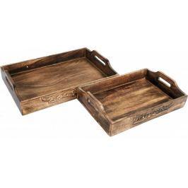 Sifcon Set 2ks dřevěných podnosů
