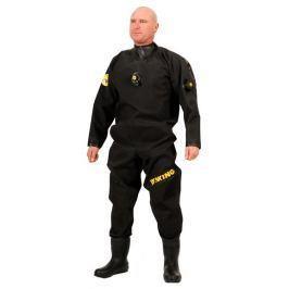 VIKING TRELLEBORG Oblek suchý EXTREME - zadní zip s latexovou kuklou, Viking, EXL