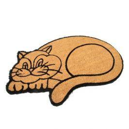 FLOMAT Kokosová vstupní rohož Happy Cat - 75 x 45 x 1,7 cm