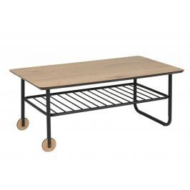 Design Scandinavia Konferenční stolek s kolečky Whale, 110 cm