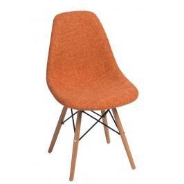 Mørtens Furniture Jídelní židle s dřevěnou podnoží Desire čalouněná