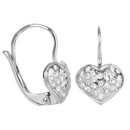 Brilio Silver Stříbrné náušnice Srdce s krystaly 436 001 00247 04 - 1,27 g stříbro 925/1000