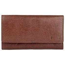 Lagen Dámská hnědá kožená peněženka Brown V-62