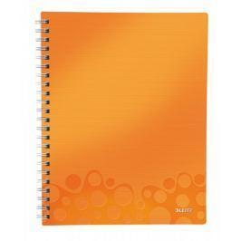 Blok organizační Leitz WOW A4  čtverečkovaný metalicky oranžový