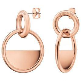 Calvin Klein Luxusní růžově pozlacené náušnice Locked KJ8GPE100100