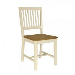Design Scandinavia Jídelní židle dřevěná Bridget (SET 2 ks), bílá
