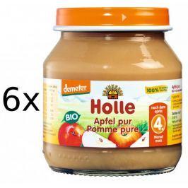 Holle Bio 100% jablíčko - 6 x 125g